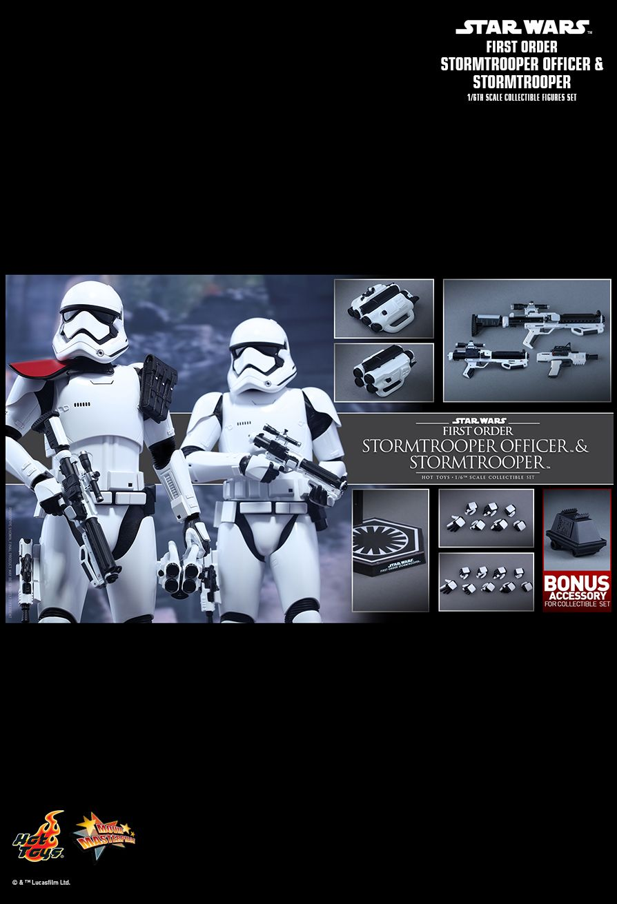 Hot Toys MMS335 STAR WARS: THE FORCE AWAKENS - FIRST ORDER STORMTROOPER OFFICER & STORMTROOPER SET