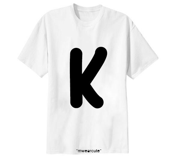 เสื้อยืด ตัวอักษร K