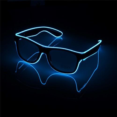 แว่นมีไฟ แสงนีออน กระพริบ 3 โหมด แว่น EL Wire