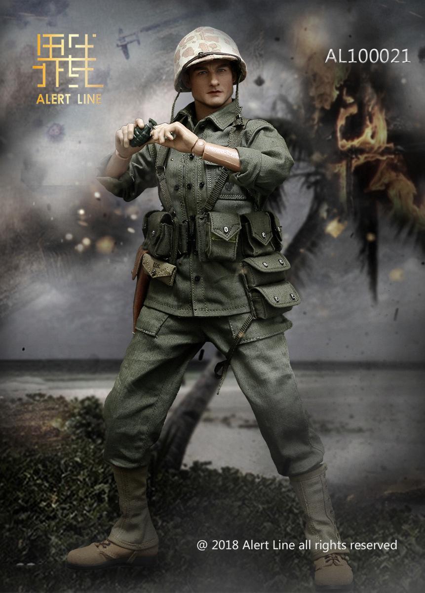 Alert Line AL100021 WWII USMC - Browning Automatic Rifle (BAR) Gunner Set