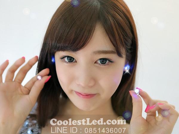 ต่างหูเรืองแสง ต่างหู LED มีไฟกระพริบ แบบเพชรเม็ดรี
