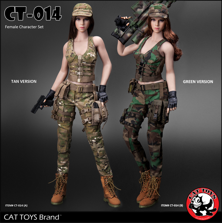 14/08/2018 CAT TOYS CT014 Military Female Character set