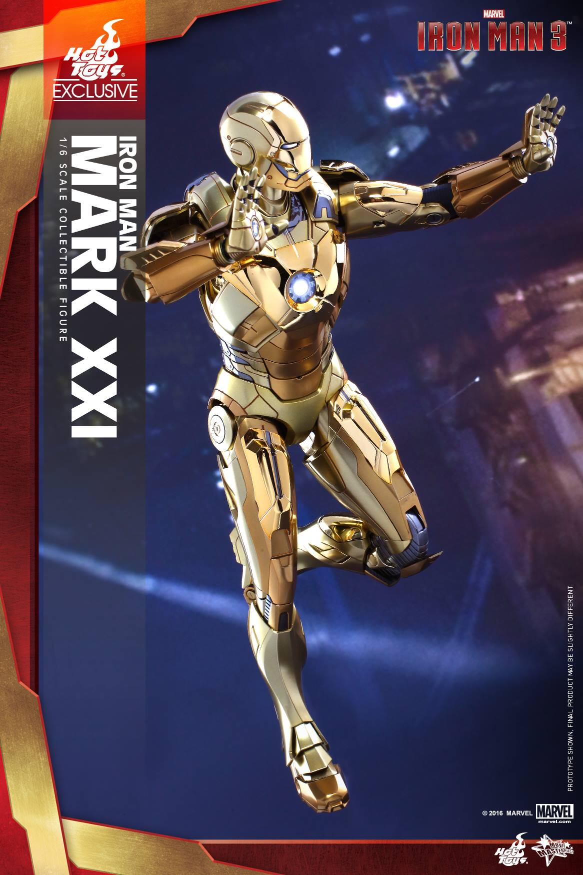 Hot Toys MMS341 IM3 - Midas Mark XXI (Gold Chrome Version)