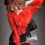 K501 *หมดค่ะ*เสื้อชีฟอง+ผ้ายืดcotton สีแดง สวยมากๆเลยจ้า ตัวเสื้อ
