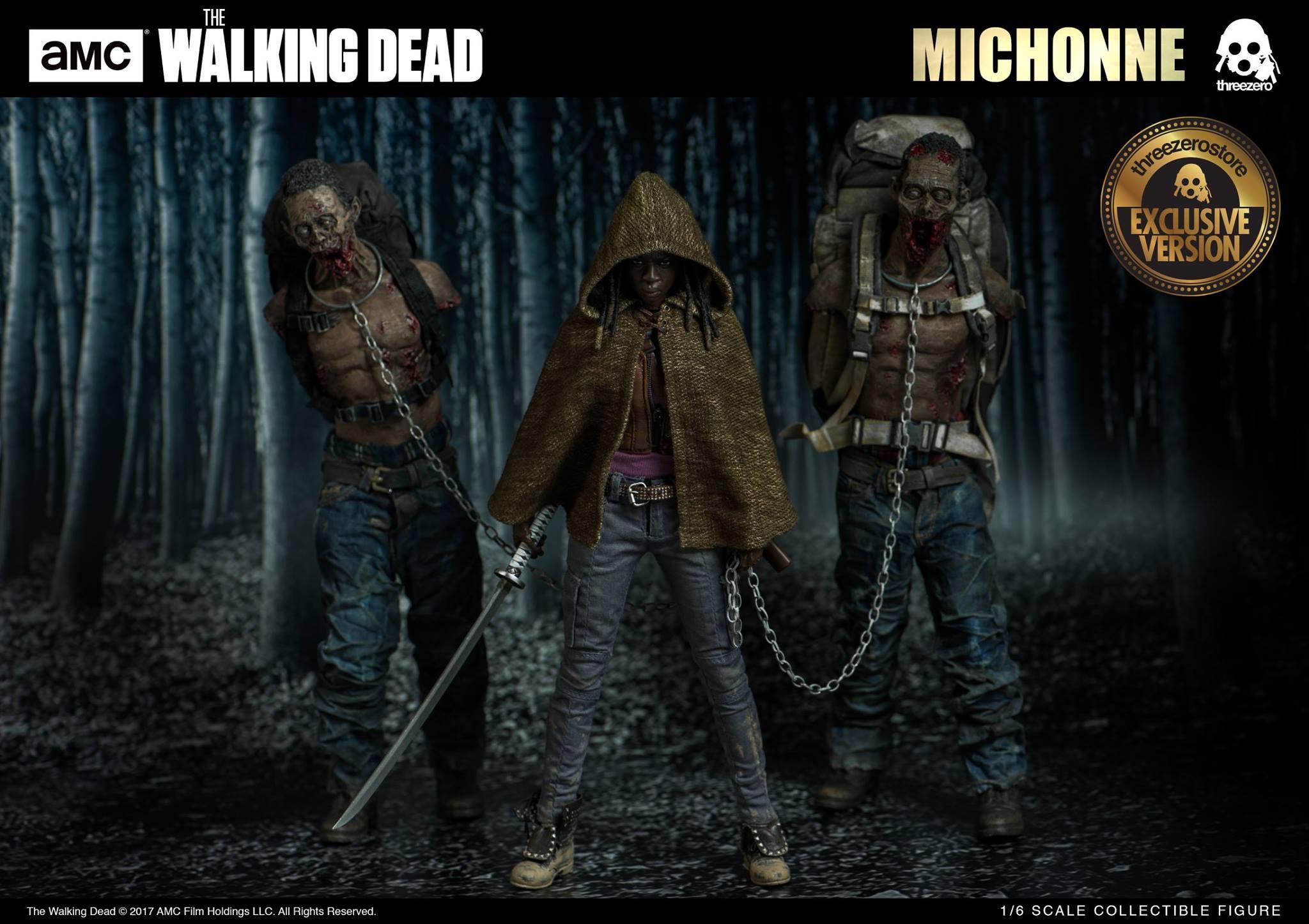 Threezero 3Z0019 + WD-ZG/WD-ZR AMC The Walking Dead - Michonne + Pet Walker Twin Pack (Exclusive Version)