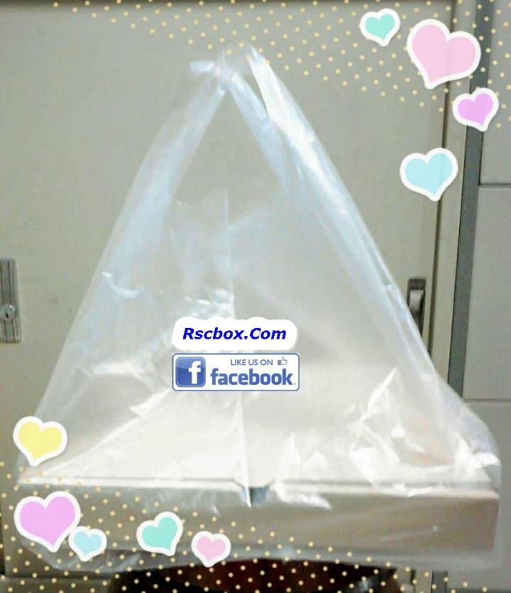 ถุงพลาสติกใส สำหรับใส่กล่องพิซซ่าขนาด 10นิ้ว 8 นิ้ว
