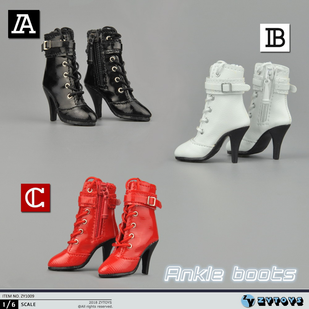 ZYTOYS ZY1009 Middle Tube Zipper + Tie Women's Leather Boots