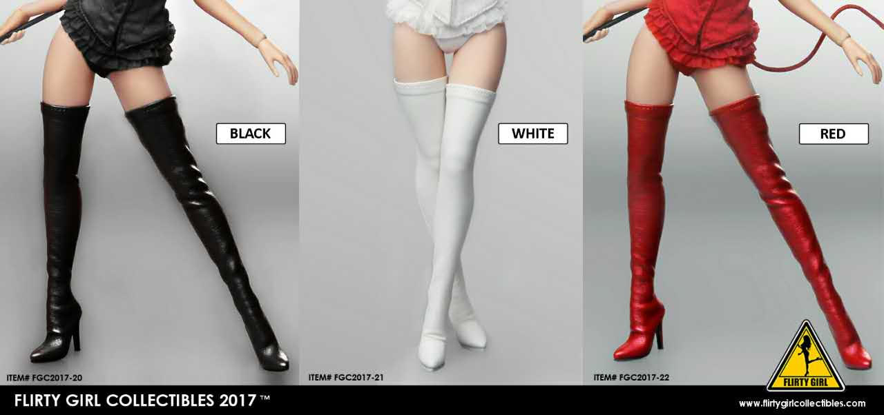 Flirty Girl Collectibles 1/6 Female Boot Collection 2017