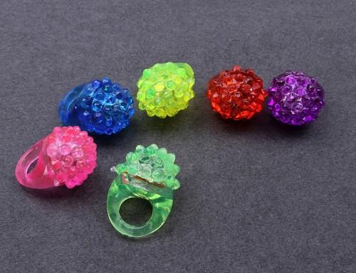 แหวนไฟกระพริบ มีไฟ LED แหวนเยลลี่