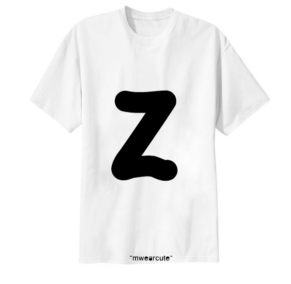 เสื้อยืด ตัวอักษร Z