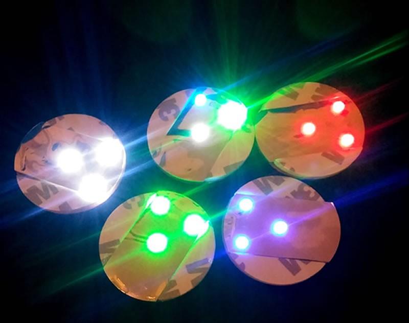 ที่รองแก้วมีไฟ LED ที่รองขวดมีไฟ แบบแผ่นสติ๊กเกอร์