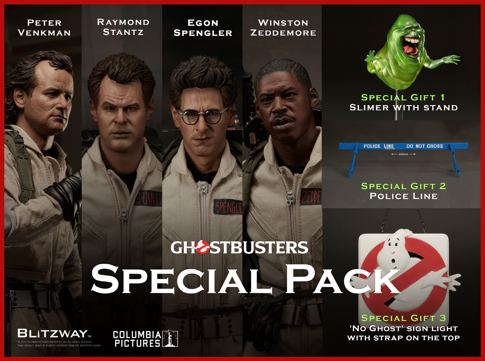 Blitzway BW-UMS10106 1/6 Ghostbusters 1984 - Special Pack