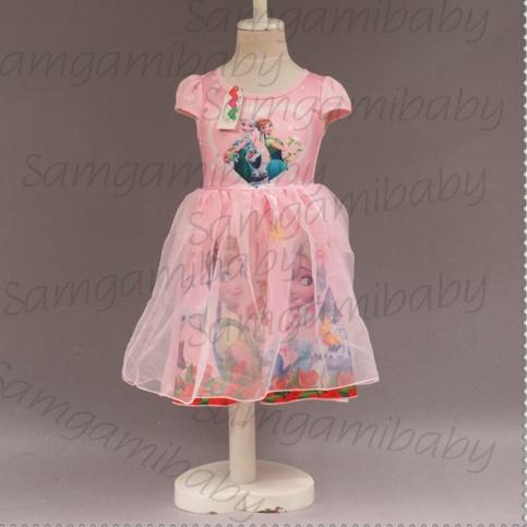 Pre-order ชุดเอลซ่า/ Size 100 / Pink