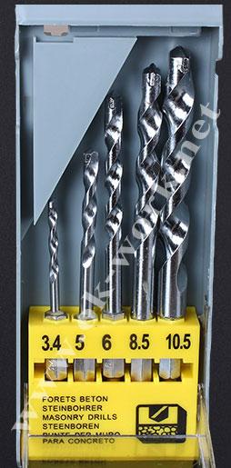 DH03 ดอกสว่านเจาะปูน ชุด 3-10 mm *แกนหกเหลี่ยม ใช้ร่วมกับข้อต่อสวมเร็วได้*