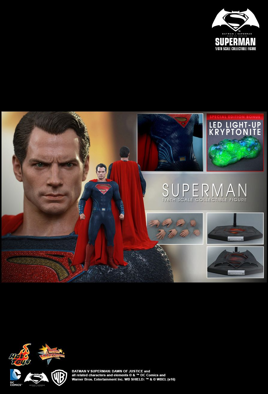 Hot Toys MMS343 Batman VS Superman: Dawn of Justice - Superman (SE)