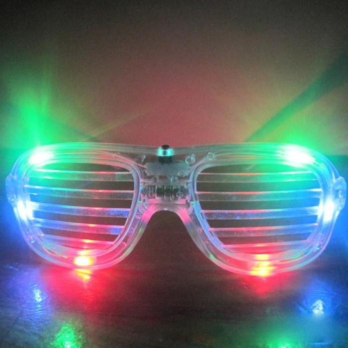 แว่นตาเรืองแสงมีไฟ LED กระพริบ