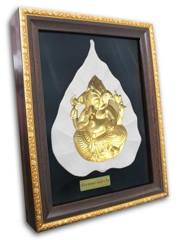 พระมองตาม ศิลปะหินทราย พระพิฆเนศ พระหันหน้าได้ ทรายสีขาว ขนาด Size 21x27x5 cm. Price ราคา 1,600 บาท.