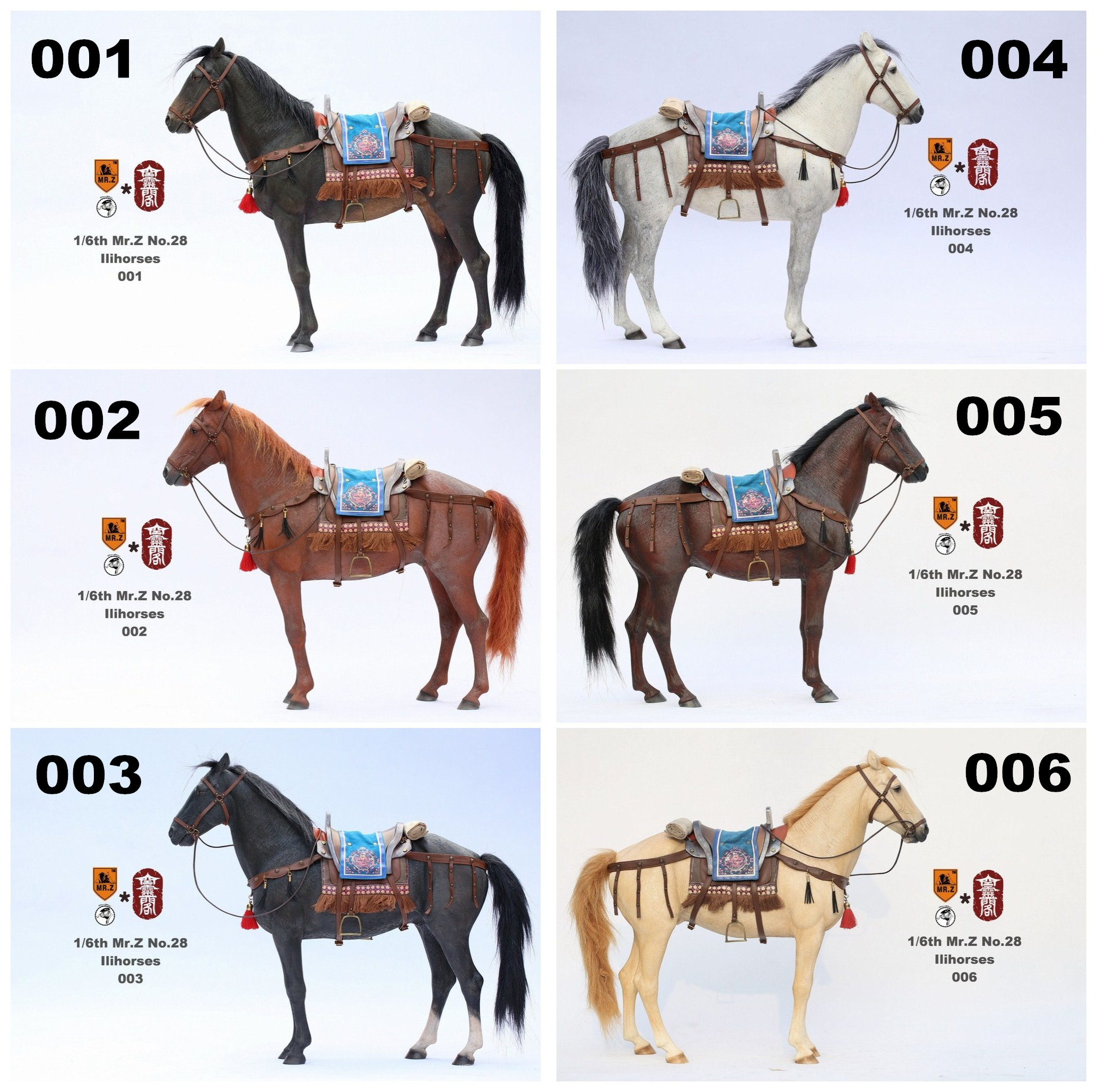 Mr.Z 1/6 MRZ028 001 - 006 Animal model - Ili Horses