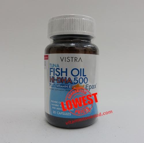 Vistra Tuna Fish Oil Hi-DHA 500mg 60แคปซูล ราคา 650 บาท ส่งฟรี