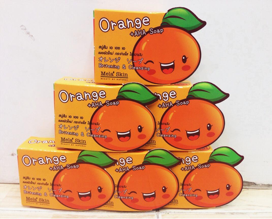 สบู่ส้ม Orange AHA Soap