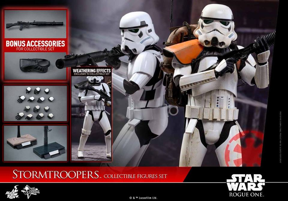 Hot Toys MMS394 ROGUE ONE: A STAR WARS STORY - STORMTROOPER SET