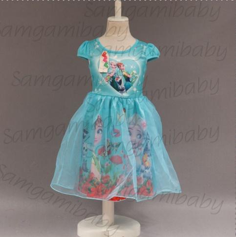 Pre-order ชุดเอลซ่า/ Size 140 / Light blue