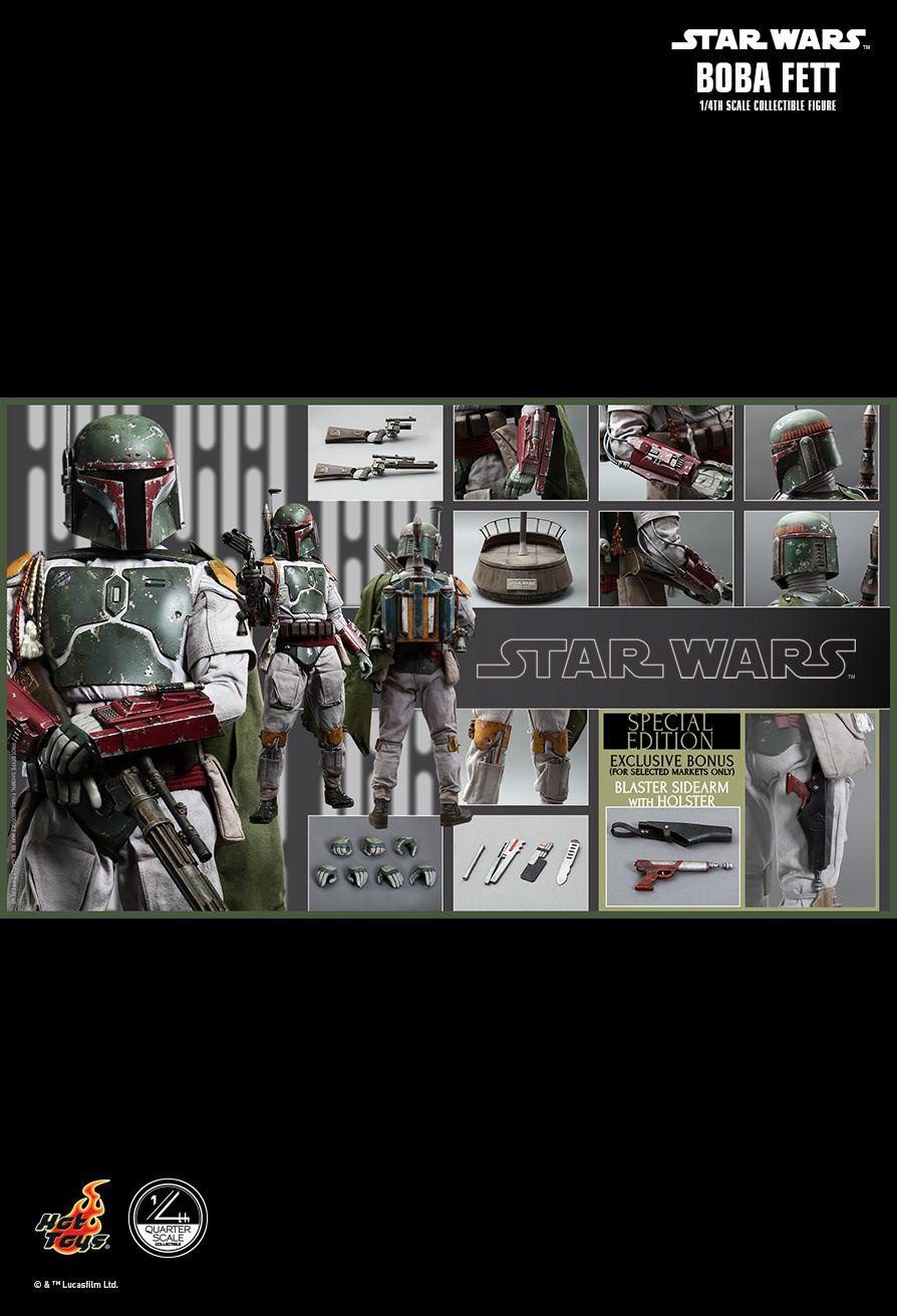 Hot Toys QS003 STAR WARS: EPISODE VI RETURN OF THE JEDI - BOBA FETT 1/4 (SE)