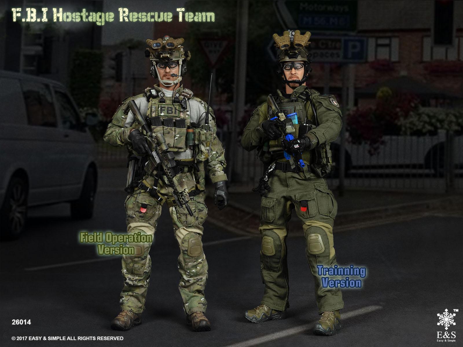 Easy&Simple 26014A, 26014B FBI Hostage Rescue Team (Field Operation Version, Training Version)