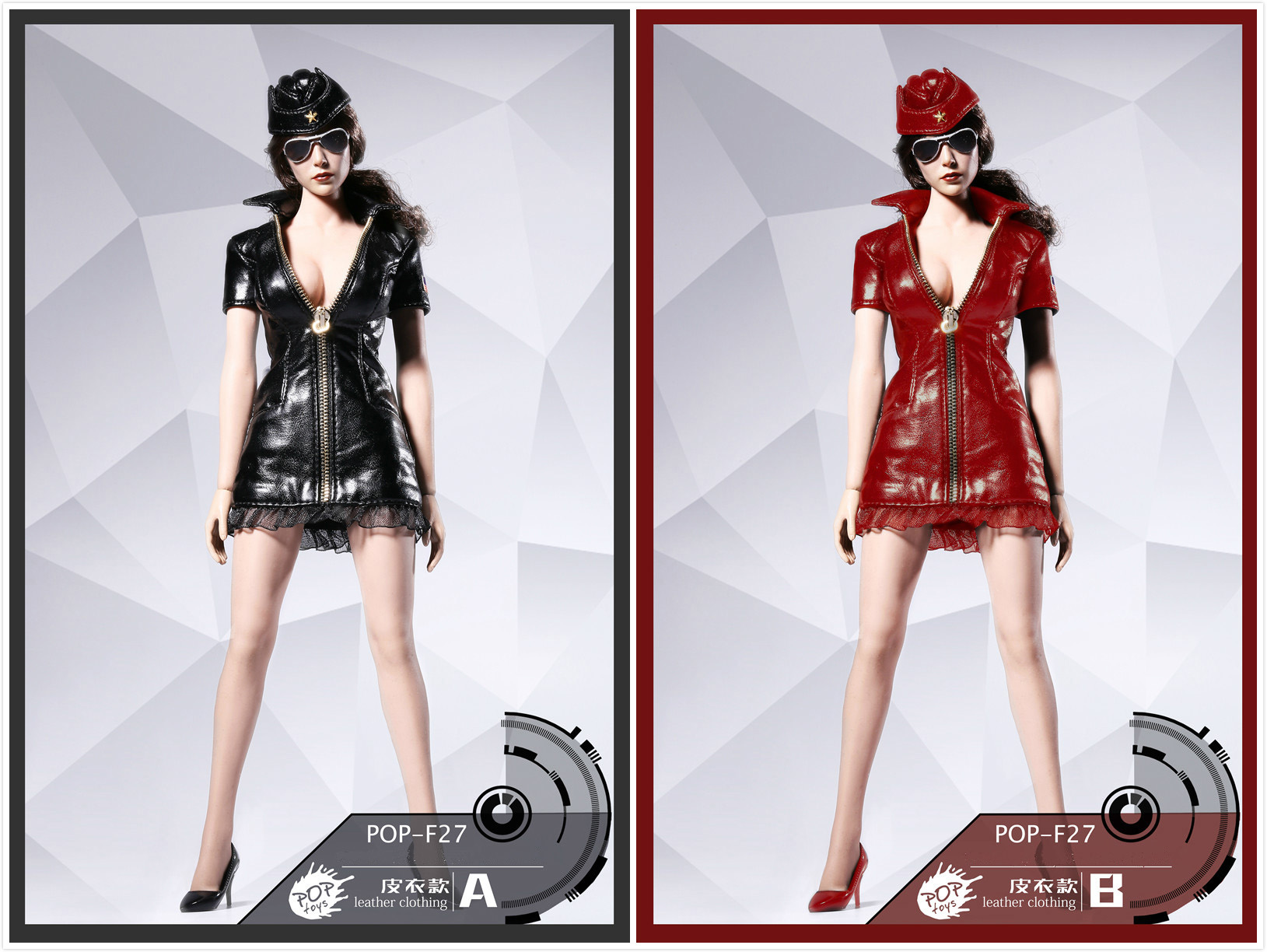 POPTOYS F27 Sexy War women suit - Leather