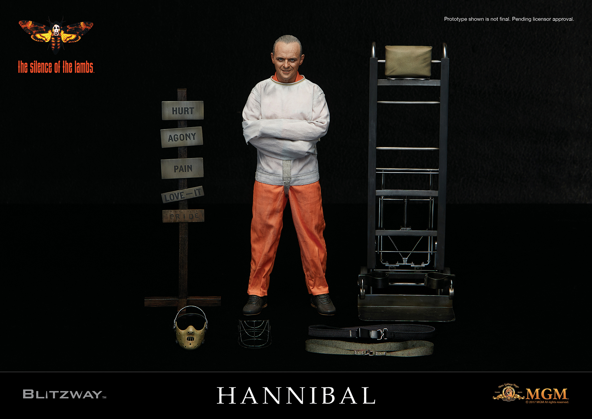 BLITZWAY BW-UMS10302 The Silence of the Lambs, 1991 - Hannibal Lecter (Straitjacket ver.)