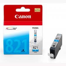 ตลับหมึกแท้ Canon 821 สีฟ้า Cyan ราคา 450 บาท