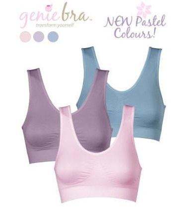 genie bra สีพาสเทล แพค 3 ชิ้น
