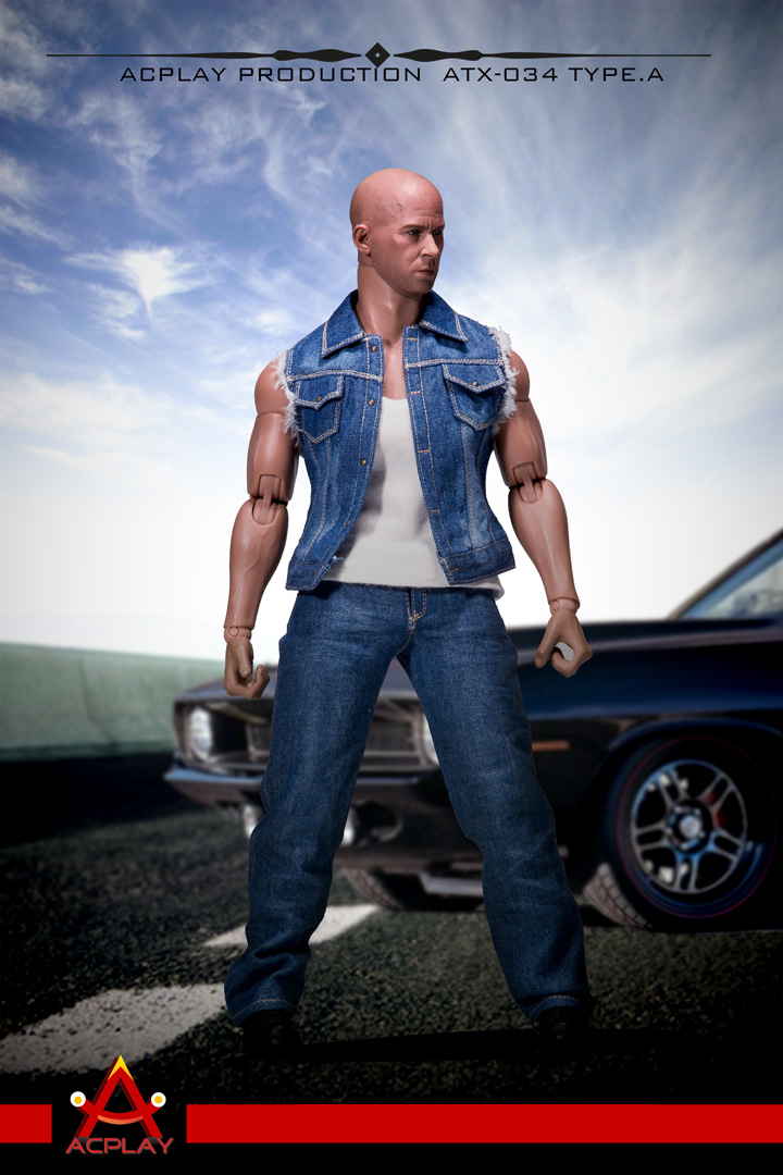 ACPLAY ATX-034 1/6 Fast and furious: Dominic Toretto denim vest suit