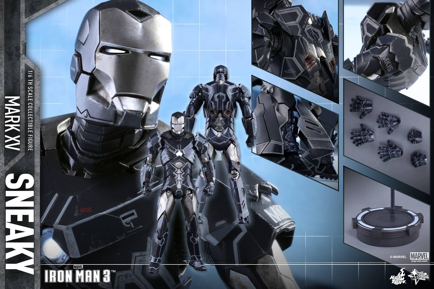 Hot Toys MMS348 IRON MAN 3 - SNEAKY (MARK XV)
