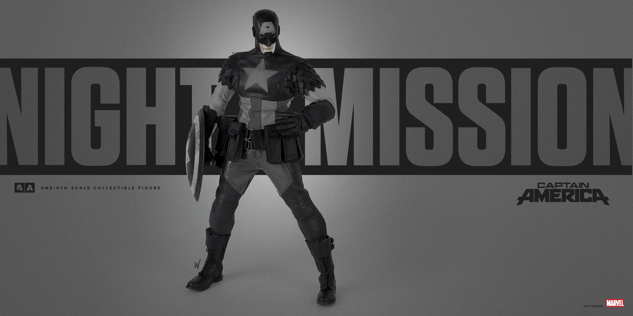 ThreeA x Marvel 1/6 NIGHT MISSION - CAPTAIN AMERICA
