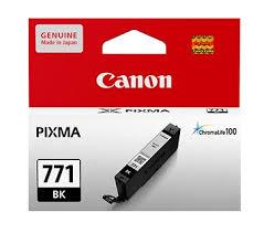 ตลับหมึกแท้ Canon 771 Bk สีดำ ราคา 530 บาท