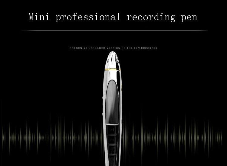 เครื่องบันทึกเสียงปากกา 5 in 1 รุ่น X6 (8 GB)