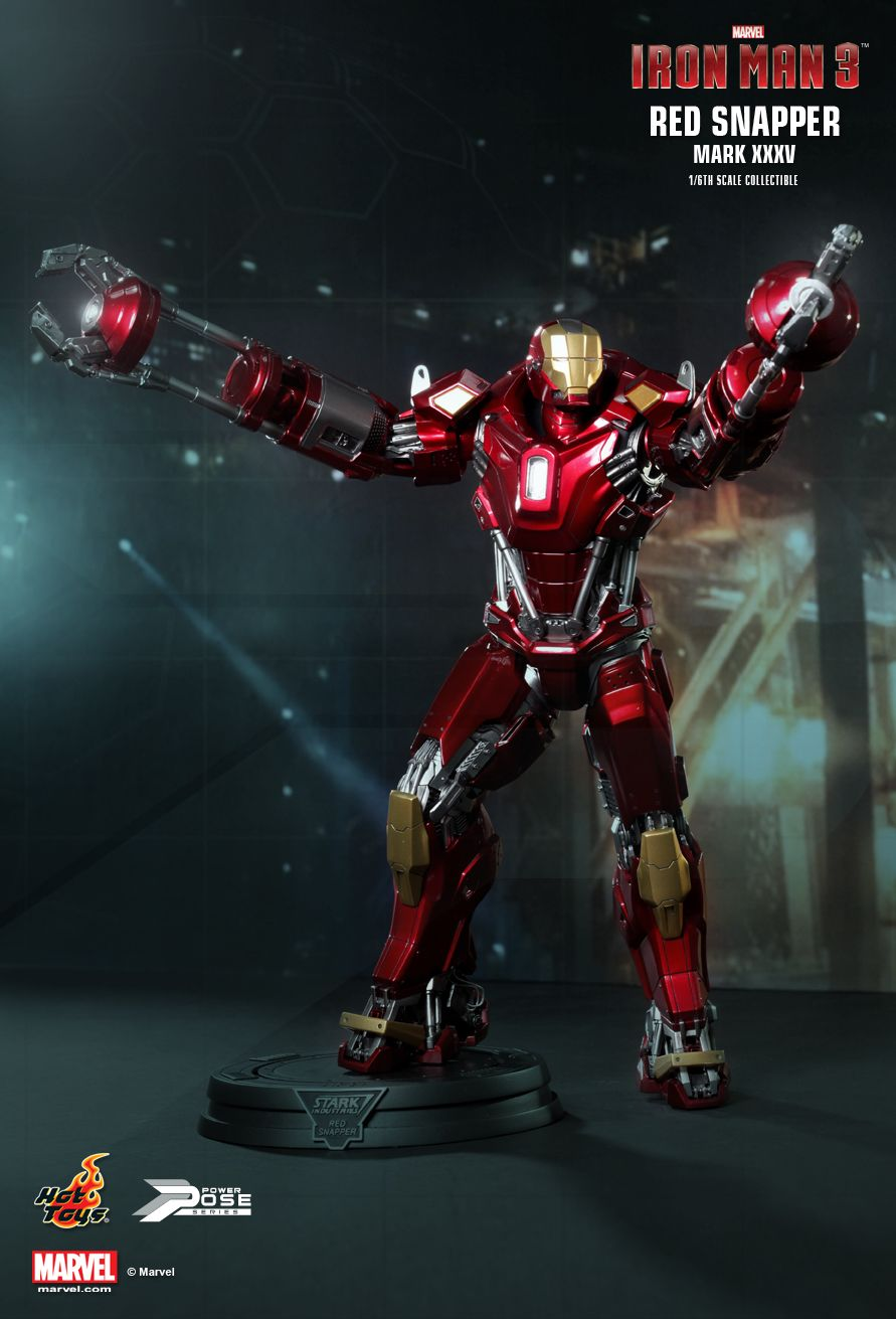 Hot Toys PPS002 IRON MAN 3 - POWER POSE RED SNAPPER