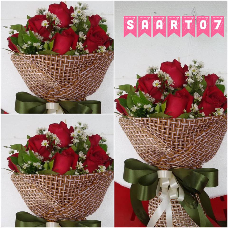ช่อดอกกุหลาบสีแดง เกรด A