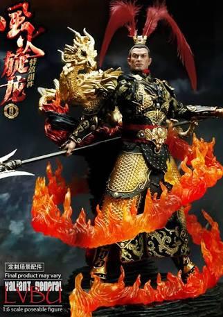 O-Soul - Lv Bu Leather armour & Flame display base