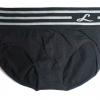 กางเกงในเอวสูง กางเกงในขอบใหญ่ L แถบลาย สีดำ