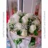 ช่อดอกไม้กุหลาบขาว ยิบโซ