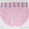 กางเกงในเอวสูง กางเกงในขอบใหญ่ ลายหัวใจเล็ก สีชมพู
