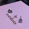 CZ 3mm Tiffany Setting S/S (Long Post) (7542-0100)