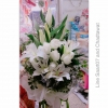 ช่อดอกไม้สด กุหลาบขาว
