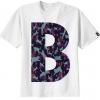 เสื้อยืดตัวอักษร B