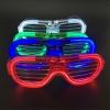 แว่นตาเรืองแสง แบบตาราง มีไฟ LED กระพริบ 3 โหมด