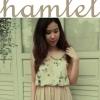 HAM197 พร้อมส่งสีชมพูค่ะ HAMLETเดรสคอบัว ผ้าชีฟองลายผีเสื้อ