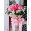 ช่อดอกกุหลาบ สีชมพู