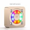 ลำโพงมีไฟ กระพริบ Aidu A9 Mini bluetooth Speaker